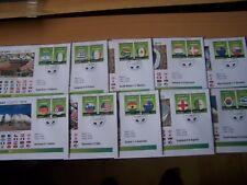Gambia. 2010, giorno di corrispondenza copre/calcio, calcio 10 diverse coperture, bello.