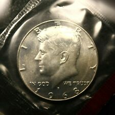 1968-D 'Silver' Kennedy Half Dollar 50c Nice 'Gem+ Bu' Still In Mint Cello F410