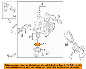 VW VOLKSWAGEN OEM 12-17 Beetle-Engine Water Pump Gasket 06H121119E