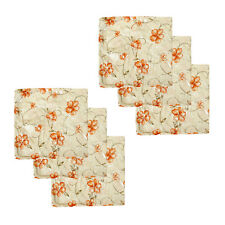 Set of 6 - Faux Suede Metallic Floral Print Cushion Covers 45 x 45 cm