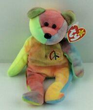 Rare TY Beanie Babies 'Peace' Teddy Bear 1996 Made in Indonesia