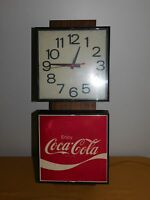 "VINTAGE 22 1/2"" H 9"" W ELECTRIC COCA COLA CLOCK WALL SIGN *CLOCK NOT WORKING*"