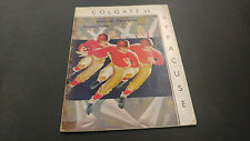November 21 1936 Colgate vs Syracuse Football Program