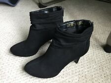 Bandolino Black Suede Ankle Boot Bootie Size 7.5 Medium
