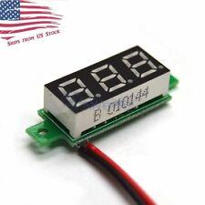 Mini DC 3.5-30V 3-Digital White LED Voltage Voltmeter Panel Meter 2-Wires