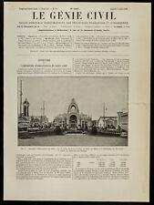 1909, Exposition internationale de Nancy : Vue du palais des Fêtes ...