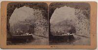 Tunnel Su La Strada Flüelen Suisse Foto BK Parigi Stereo Vintage Albumina