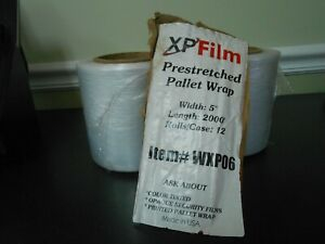 """Shrink wrap 5"""" x 2000 Feet each - Clear Stretch film - 6 rolls - Free Shipping"""