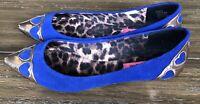 Betsey Johnson Women's Blue Sadiie Flats Size 8 SHIPS FREE