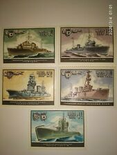 Stamps of the USSR 1982 Navy Fleet Warships of 5 pure marks.Military theme