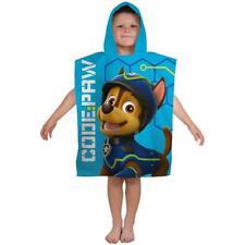 Paw Patrol Spy Kids Childrens Boys Poncho Towel Holiday Swimming 100% Cotton