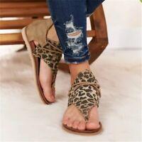 printemps/été 2020 sandales imprimé léopard femmes chaussures plates