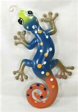 Gecko hand painted metal wall art home decor (D)