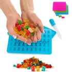 Pack of 2 Silicone Gummy Bear Molds Maker 50 Cavities Trays - ONE BONUS DROPPER