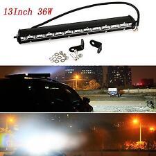 13 Inch 36W White Slim LED Spotlight Bar Driving Work Lamp Offroad SUV ATV JEEP