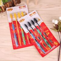 4pcs Double Ultra Soft Toothbrush Bamboo Charcoal Nano Brush Oral Dental Care Q