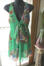 VINTAGE  Style ~ Green Exotic ~  DRESS * Size 10 * REDUCED !!