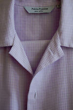 Set of 2 quality brushed woven cotton check pyjamas; adjustable waist; size 2XL