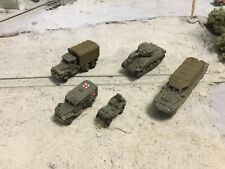N Scale WW 2 era Military Army Vehicles 3 D sampler pack unpainted