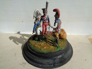 Lasset or Stadden, Napoleonic diorama 54mm lead painted by Frank Burns, JJ