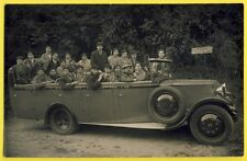 cpa Carte Photo LOURDES AUTOMOBILE VOITURE AUTOCAR Enfants avec Beret et Canne