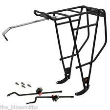 """Axiom FatLiner Fat Bike Rear Rack Black 26"""" fits Disc Brake &up to 5"""" tire 110lb"""