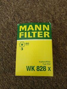 Fuel Filter WK 828 X MANN+HUMMEL for Ford Mazda Metrocab Mitsubishi Subaru VW