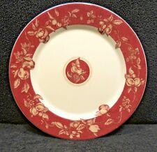 Waverly Garden Room Fruit Toile Dinner Plates x1 Red & White Fruit