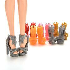 10Pairs Doll Shoes High Heel Sandals for Barbie Doll Princess Color Random O5X