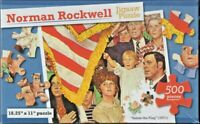 PUZZLE, 1971 NORMAN ROCKWELL,  SALUTE THE FLAG, 500 PIECES, 8+, UNOPENED