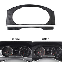 1 x Carbon Fiber Dashboard Panel Decorative Trim Cover For VW Golf MK7 2014-2019