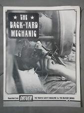 1979 BACKYARD MECHANIC VOLUME 1 VINTAGE AUTO REPAIR MAGAZINE HOW TO SERVICE