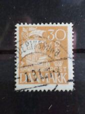 DANEMARK, 1927-30, timbre 184, VOILE BLANCHE, BATEAU, VOILIER, oblitéré