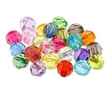 Free Ship 300PCs Mixed Acrylic Faceted Round Spacer Beads For Jewelry Making 6mm