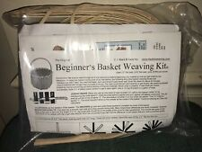 New Original Beginner's Basket Weaving Kit Round Basket Oak Handle Sealed