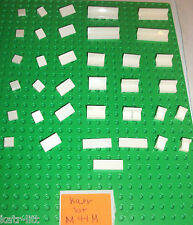 Lego White 1x1 Corner 1x3 1x2 1x4 Tile 93095 3070 6231 43337 4865 54200 85884