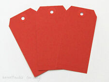 50 Red Shipping MediaTags, Size 4 3/4 x 2 3/8, #5's, Scrapbooking, Gifts, DIY