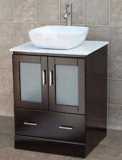 "24"" Bathroom Vanity 24-inch Cabinet WhiteTop Vessel Sink Faucet M24"