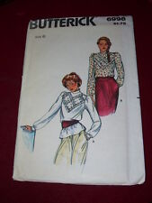 1972 BUTTERICK #6996 - LADIES LONG SLEEVE VICTORIAN STYLE BLOUSE PATTERN  6  FF