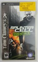 Tom Clancy's Splinter Cell Essentials Sony  PSP disc protective case and manual