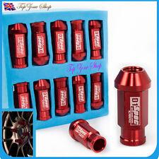 20 Pcs D1SPEC Red Light Weight Billet Racing Wheel Lug Nut Nuts M12x1.5
