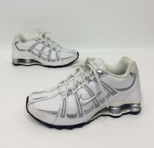 Nike Shox Women's White/silver Leather Athletic Running Shoes Size 7.5