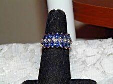 LAURA RAMSEY 14K YELLOW GOLD TANZANITE DIAMOND RING - EVINE - SIZE 7
