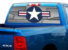 P467 USAF Air Force Rear Window Tint Graphic Decal Wrap Back Truck Tailgate