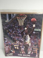 VINTAGE 1990  UTAH JAZZ  #32 KARL MALONE  NBA HOOPS  8 X 10  ACTION PHOTO