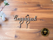 Engaged Engagement Party Cake Topper Wooden