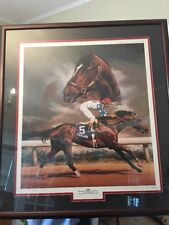Michael DuVall Finnell Cigar Palace Music Horse Painting Signed Framed Print