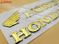 3D Raise Gold Fuel Tank Fairing Badge Wing Emblem Decal for Honda CB CBR CBF RC