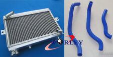 For Honda TRX250 TRX250R 1986 1987 86 87 Aluminum Radiator & Silicone Hose BLUE