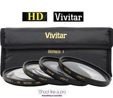 58mm Vivitar Hi-Def 4-Pcs +1 +2 +4 +10 Close Up Macro Lens Set Kit